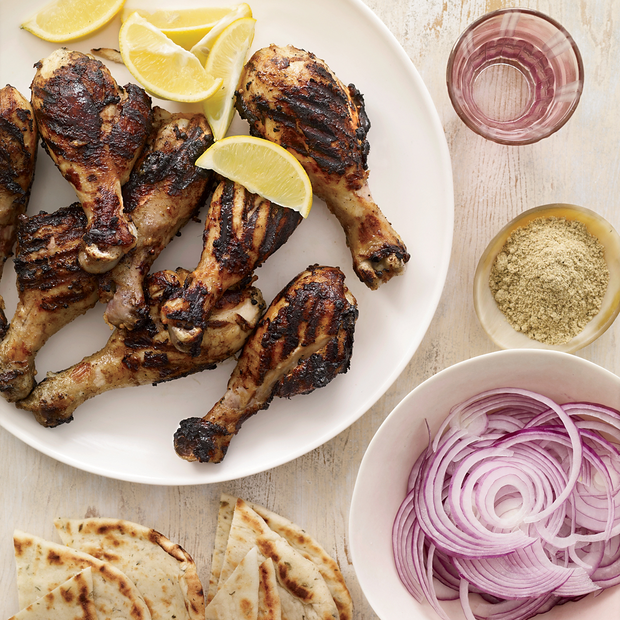 Grilled Tandoori-Style Chicken Drumsticks