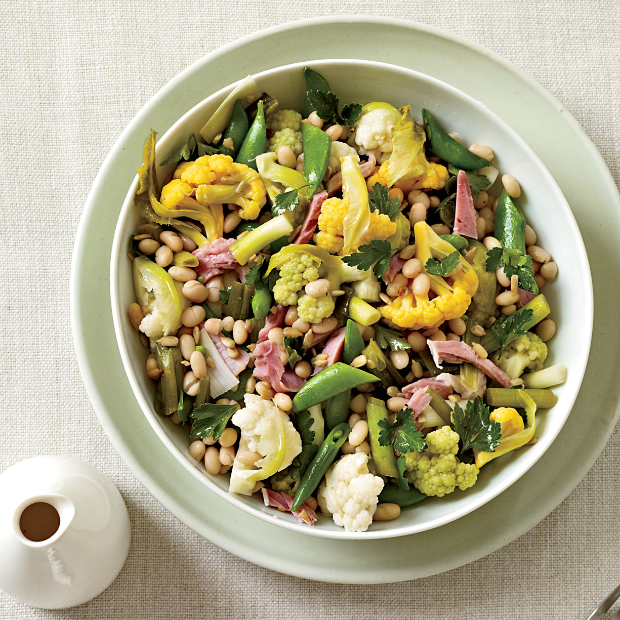 Giardiniera with Ham and White Beans