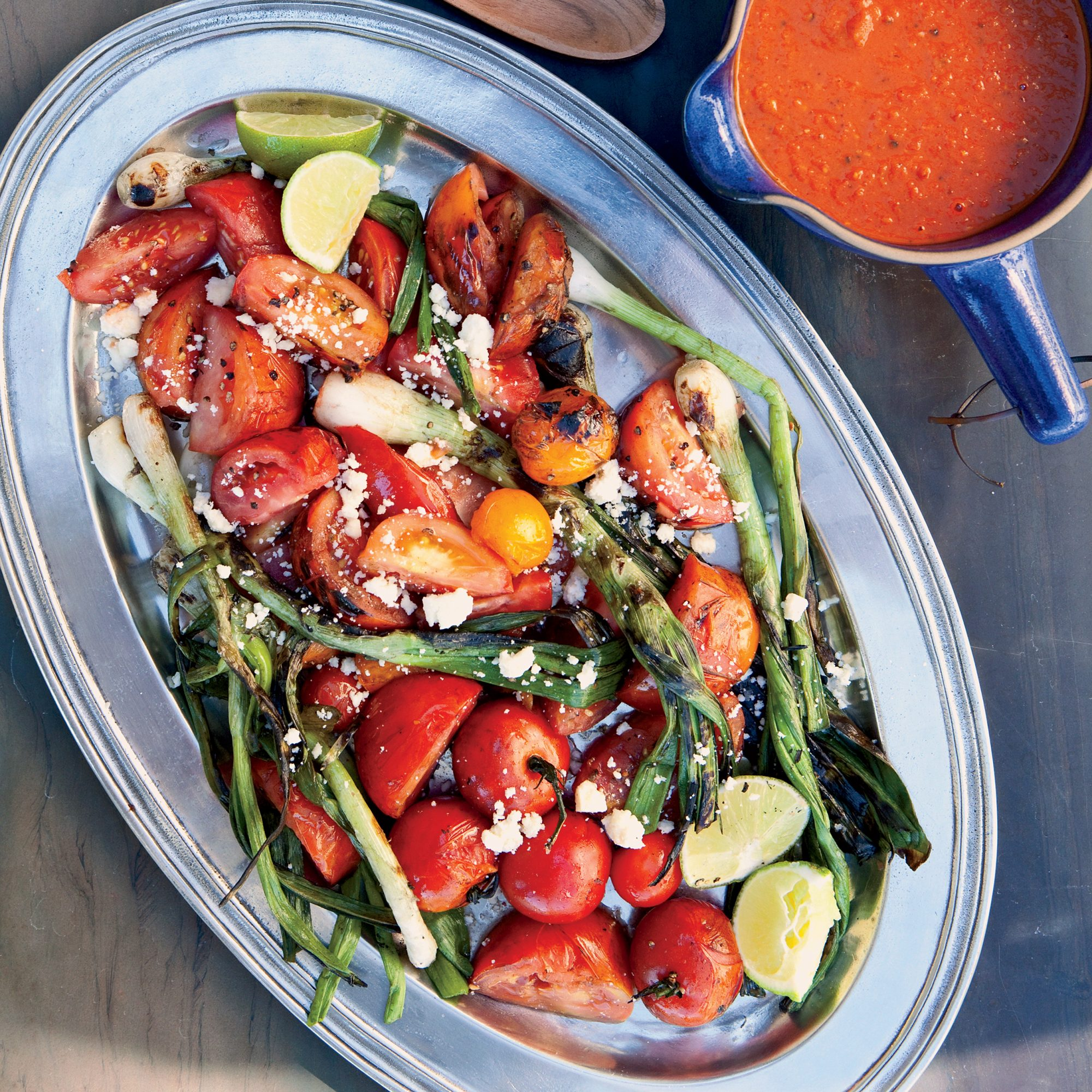 Grilled Tomato-and-Scallion Salad