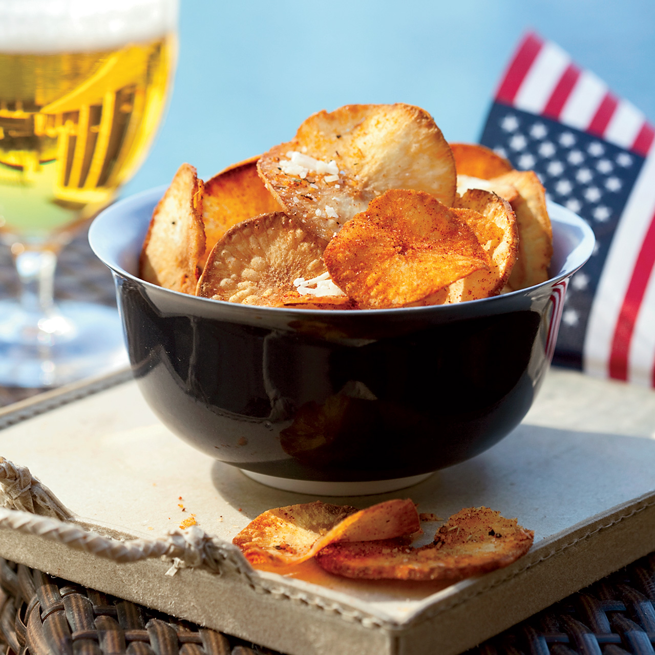 Chile-Cheese Yucca Chips