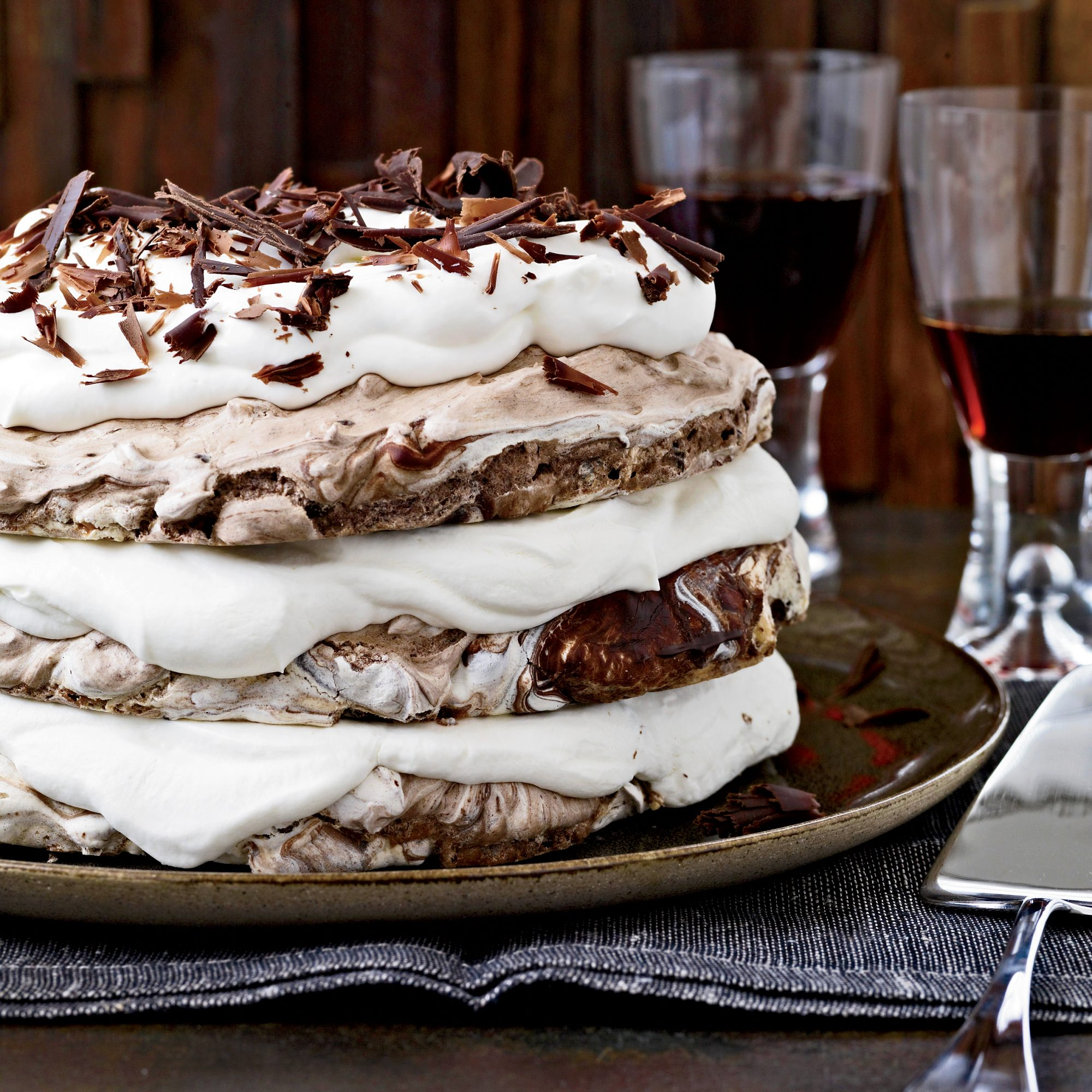 Hazelnut-and-Chocolate Meringue Cake