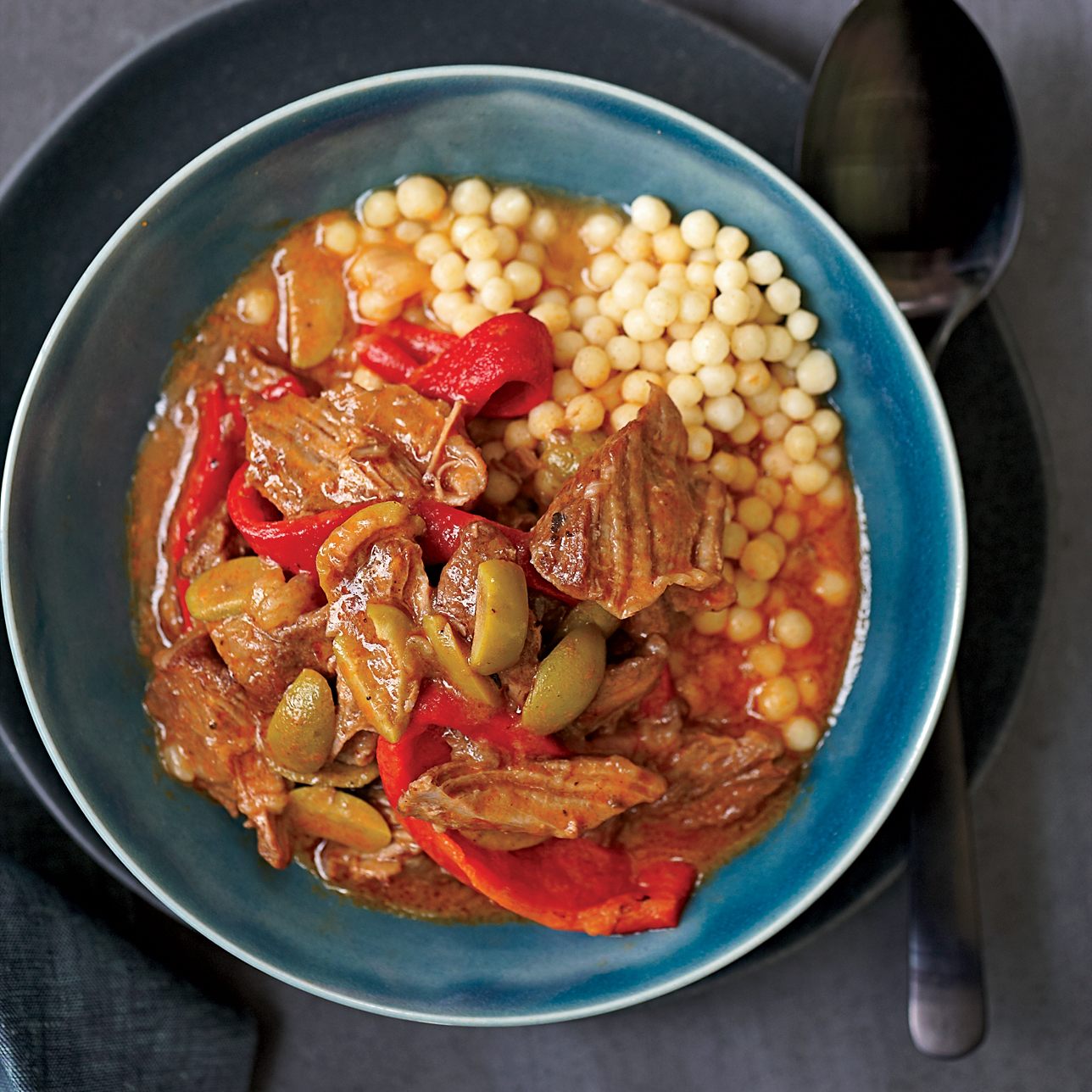 Lamb Ragout with Olives and Peppers