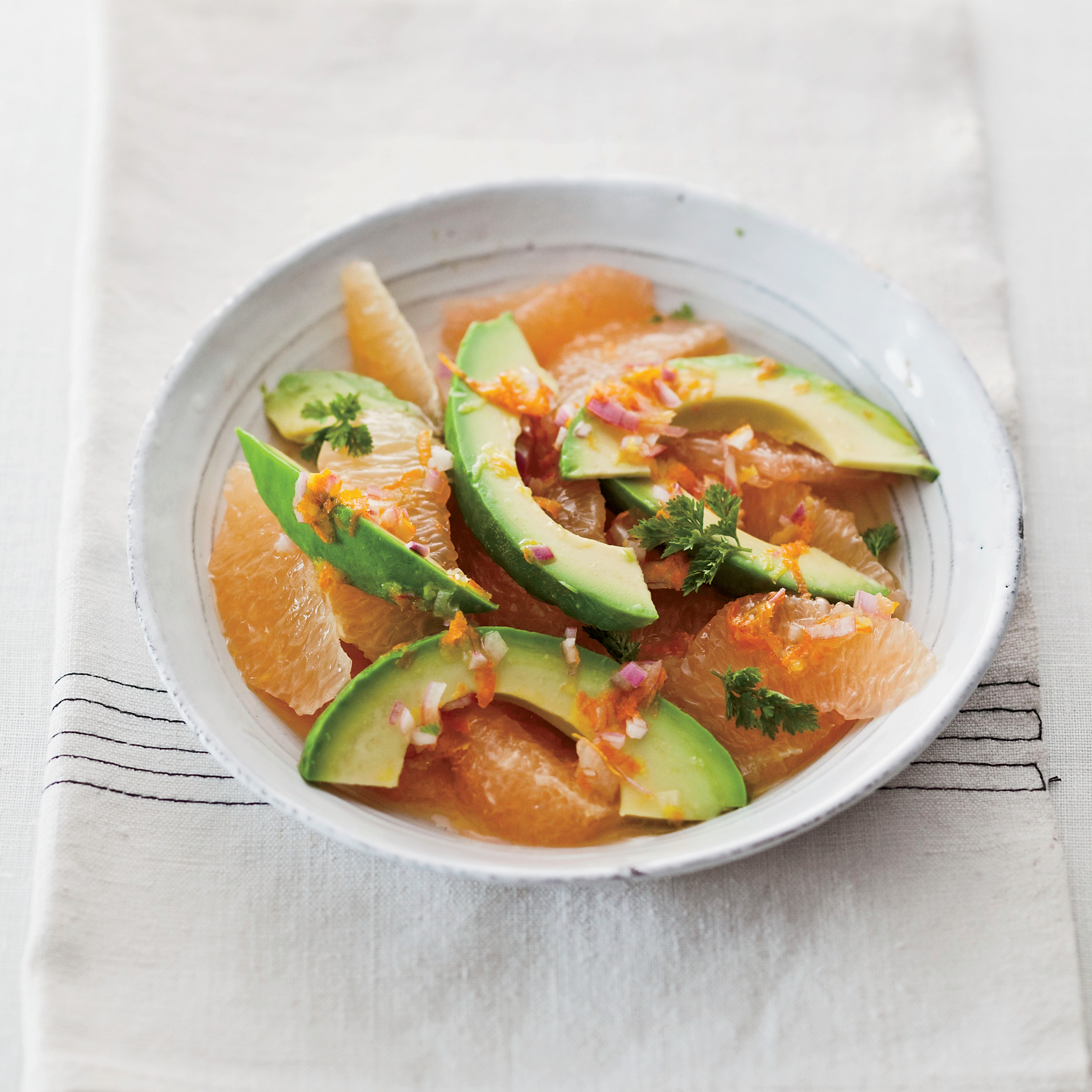 Pink-Grapefruit-and-Avocado Salad. Photo © Quentin Bacon