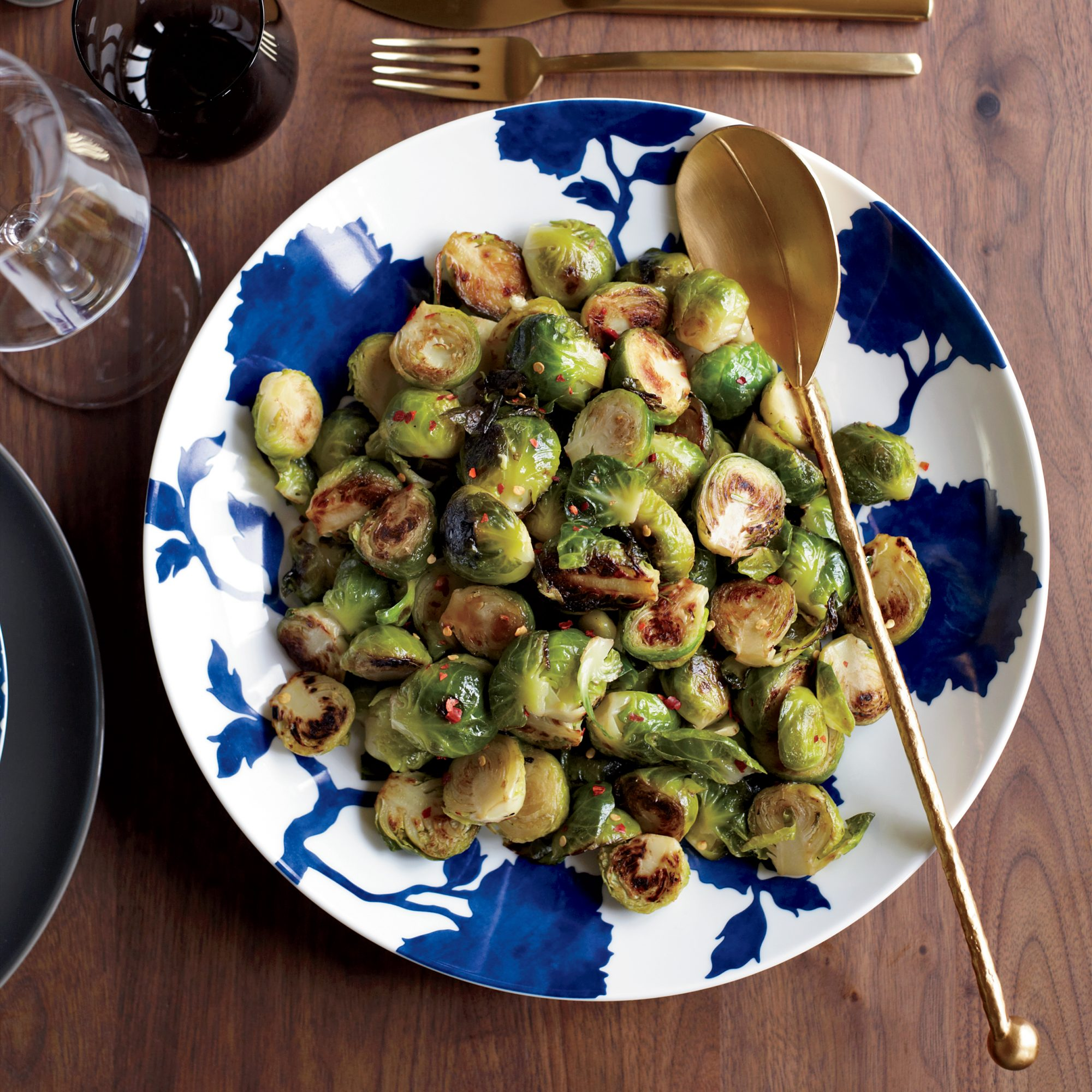 Spicy-and-Garlicky Brussels Sprouts