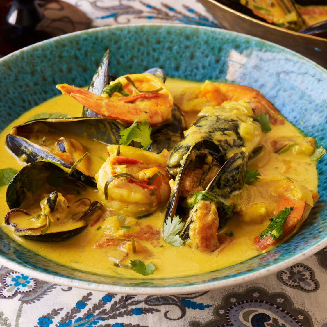 Curried Coconut-Seafood Soup