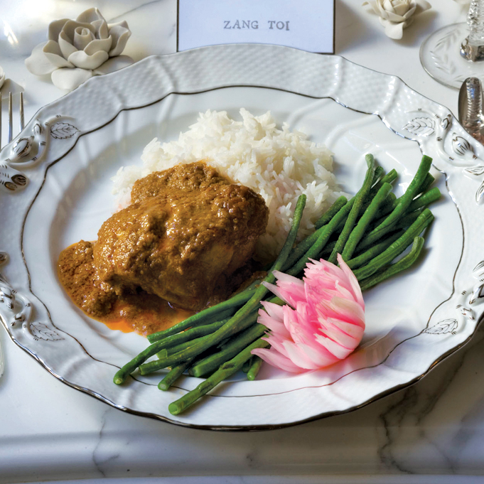 Curried-Coconut Chicken Rendang