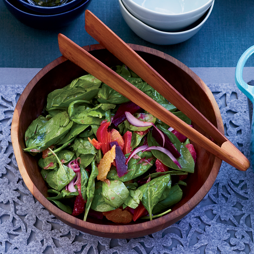 Spinach Salad with Citrus and Roasted Beets