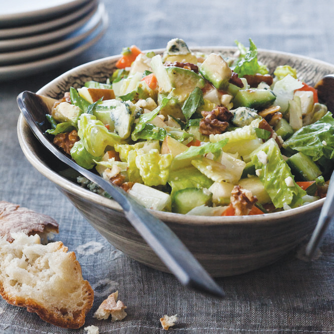 Chopped Salad With Blue Cheese Dressing Recipe Laura Werlin Food Wine