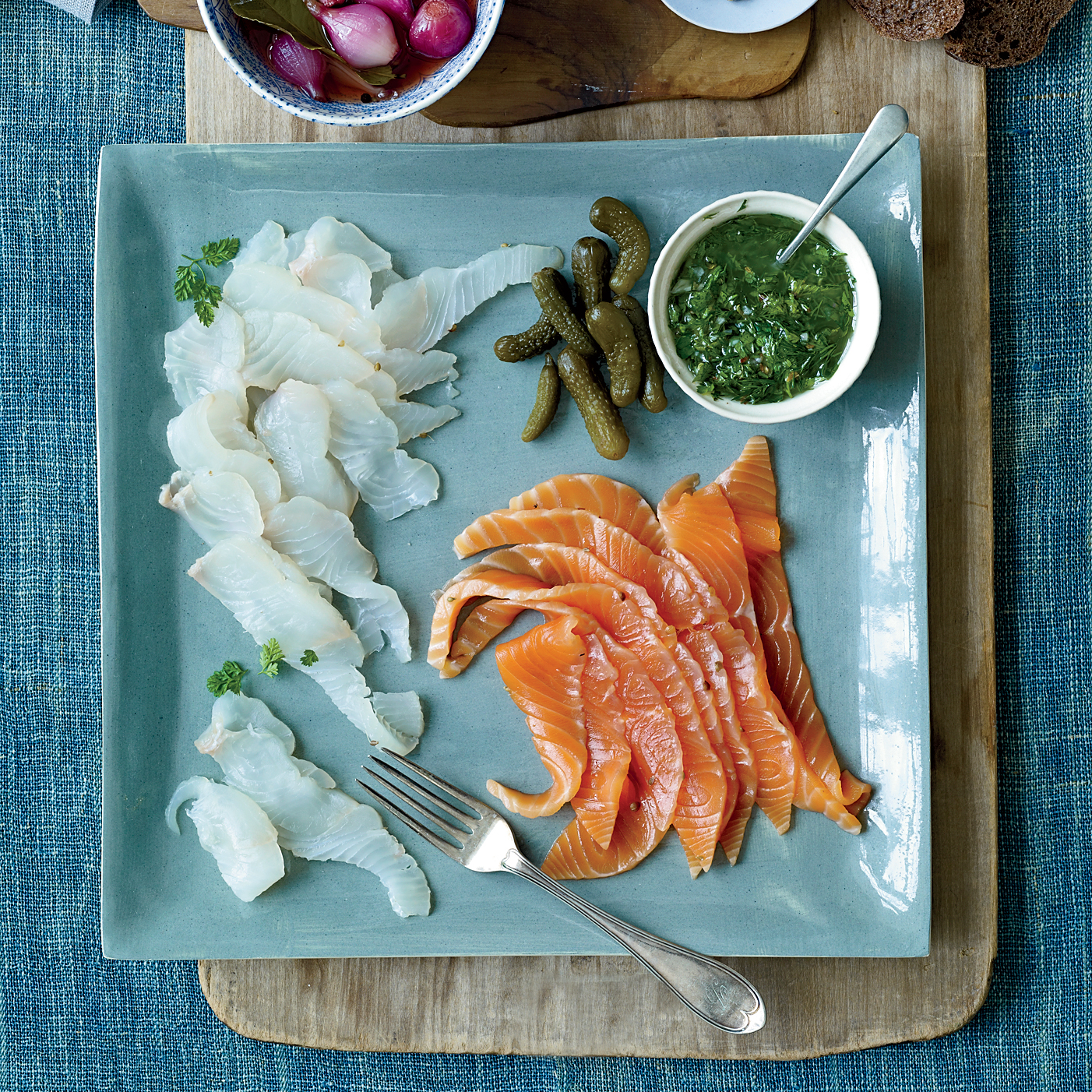 Three-Day Brined Lox with Anise-Herb Sauce