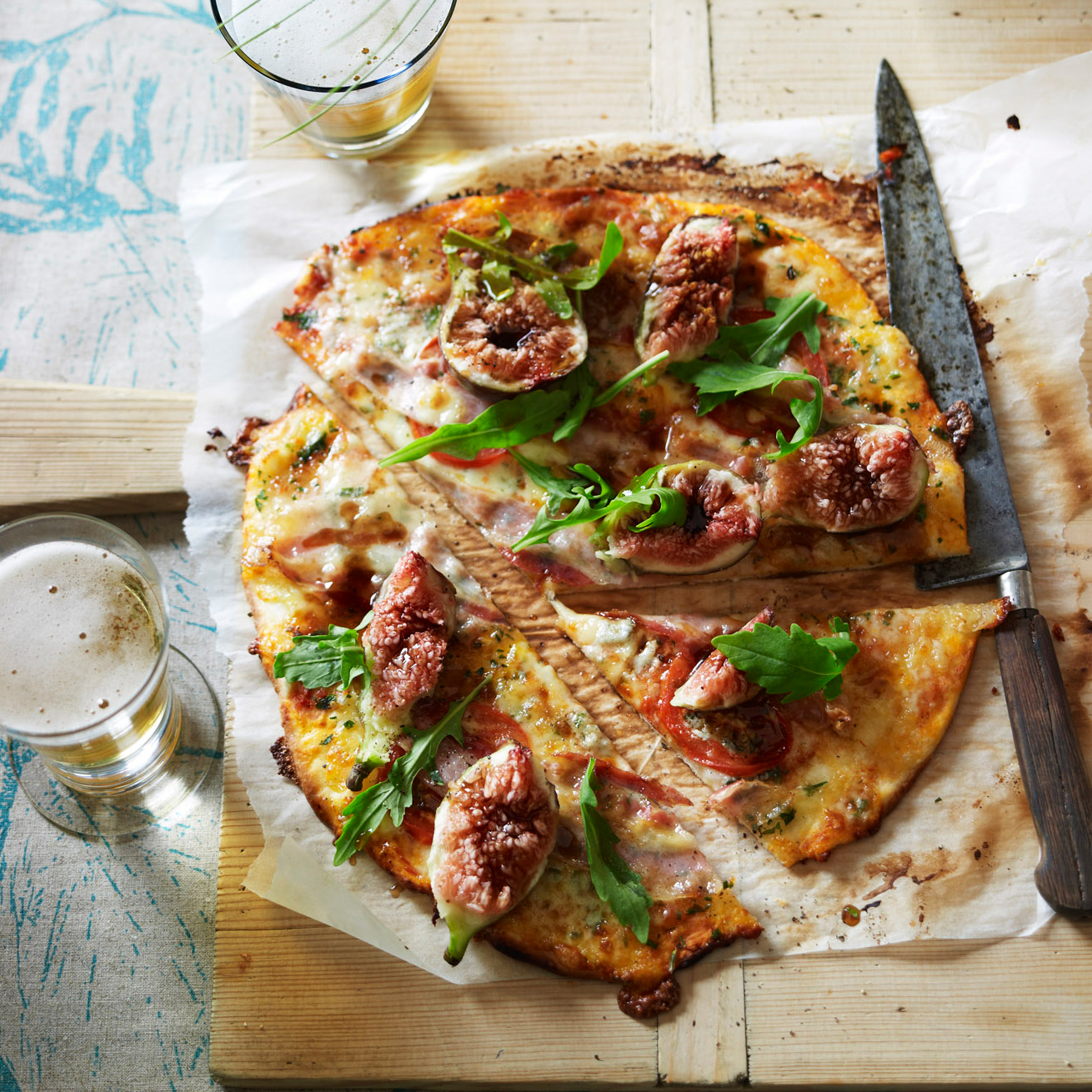Gorgonzola, Fig and Pancetta Pizza