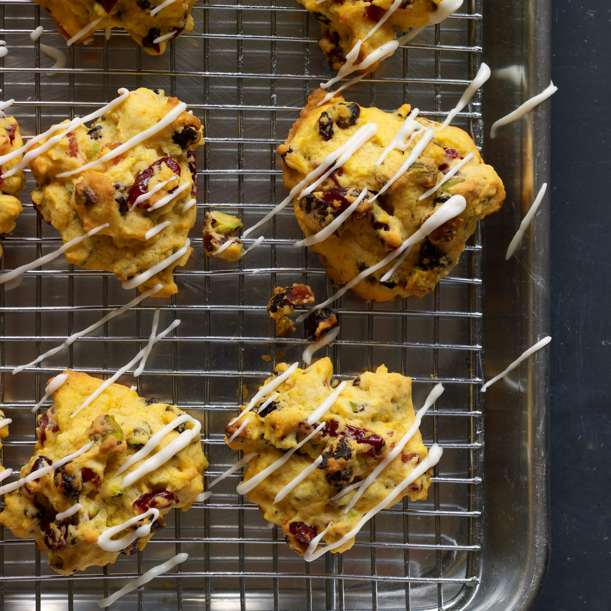 Pumpkin Cookies with Dried Fruit and Pistachios