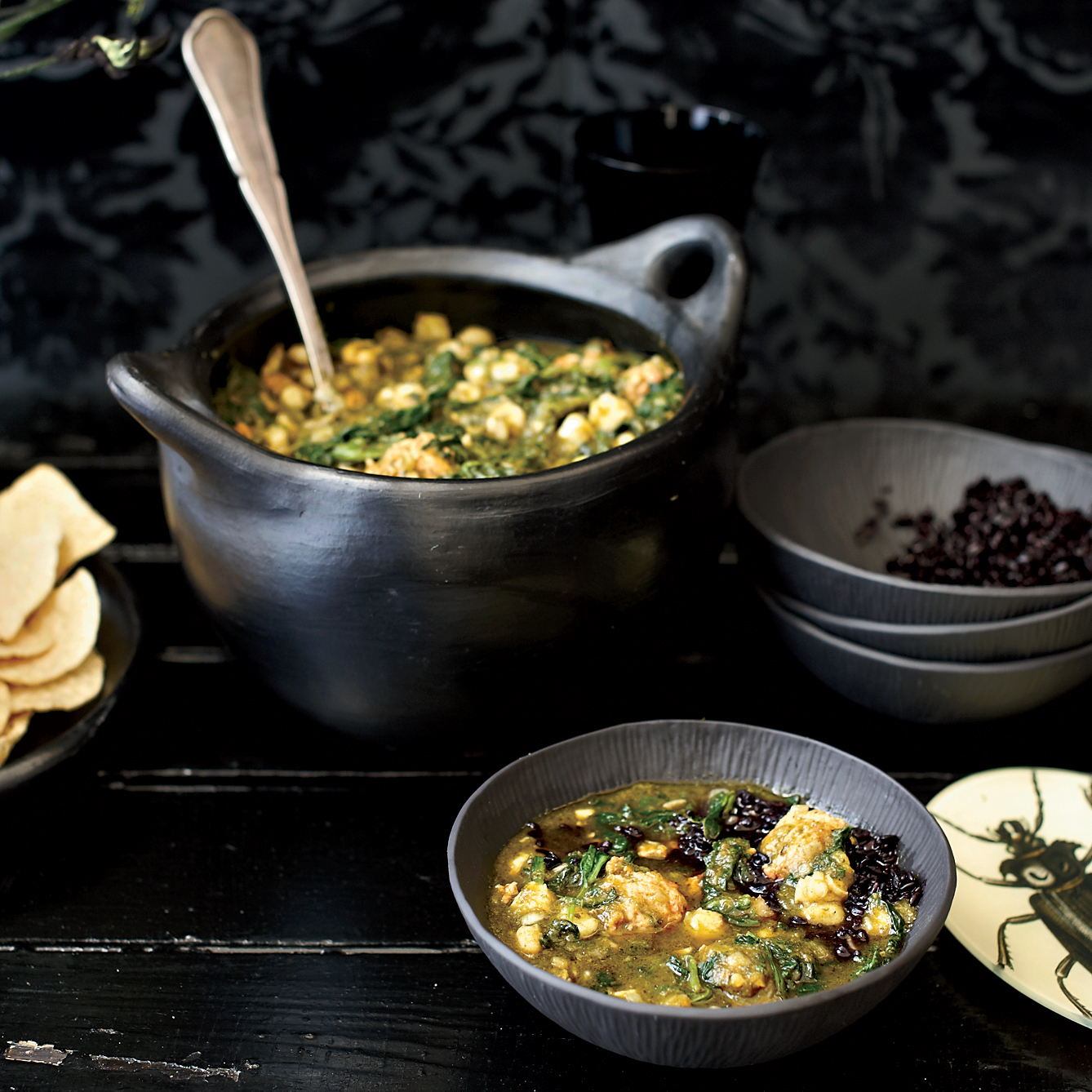 Swamp Chili (Poblano-and-Spinach Posole)