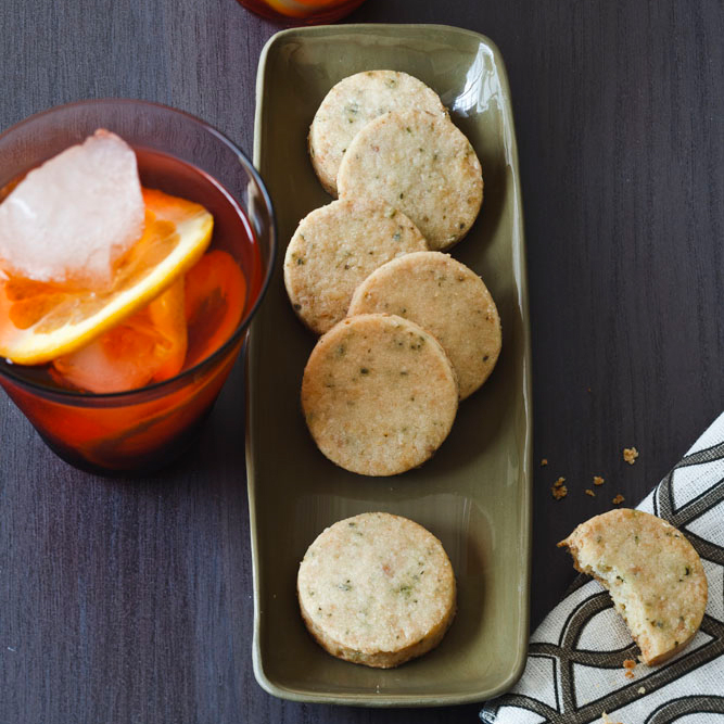 Rosemary, Almond and Parmesan Cocktail Cookies