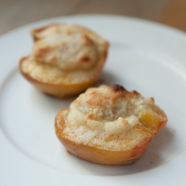 Baked Peaches with Almond Paste