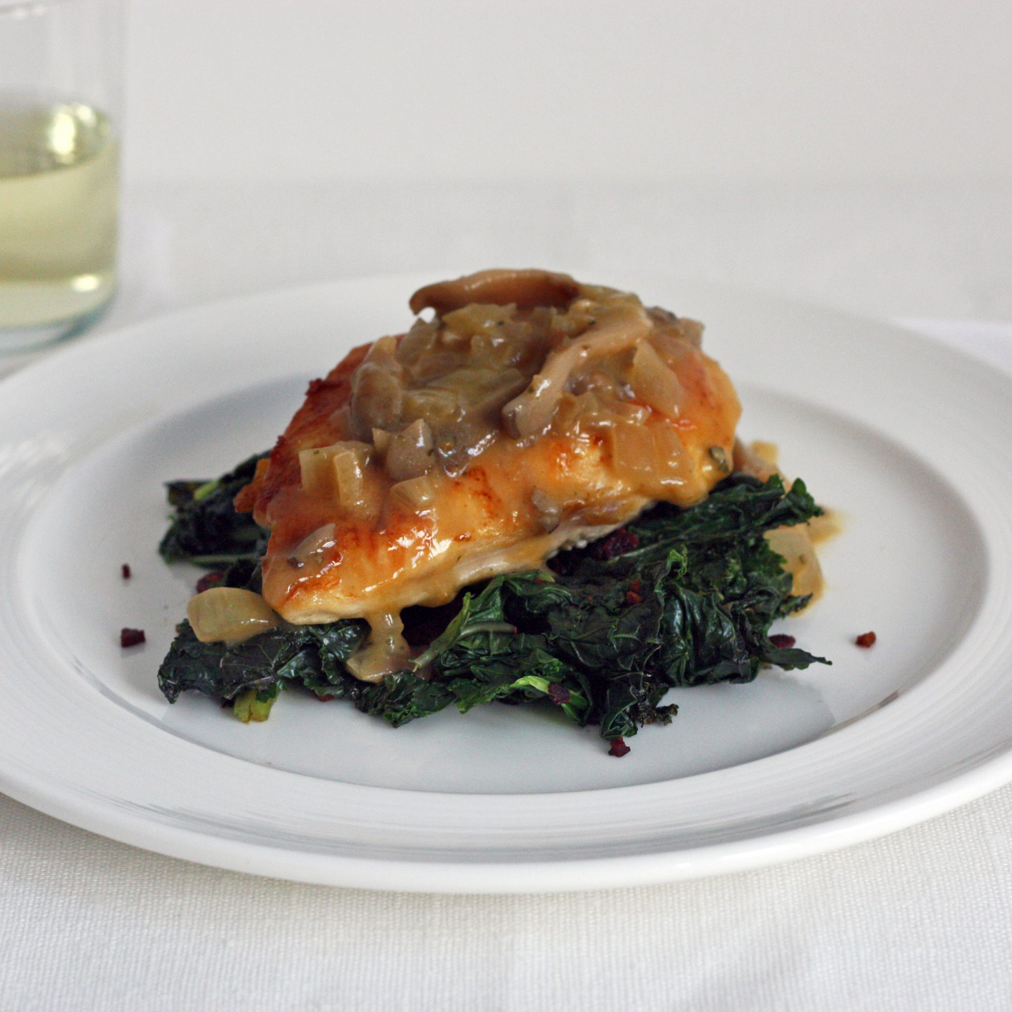Chicken with Kale and Wild Mushrooms