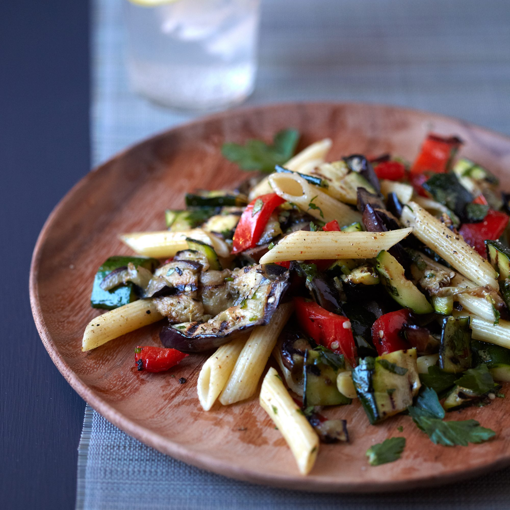 Grilled-Vegetable Pasta with Cumin