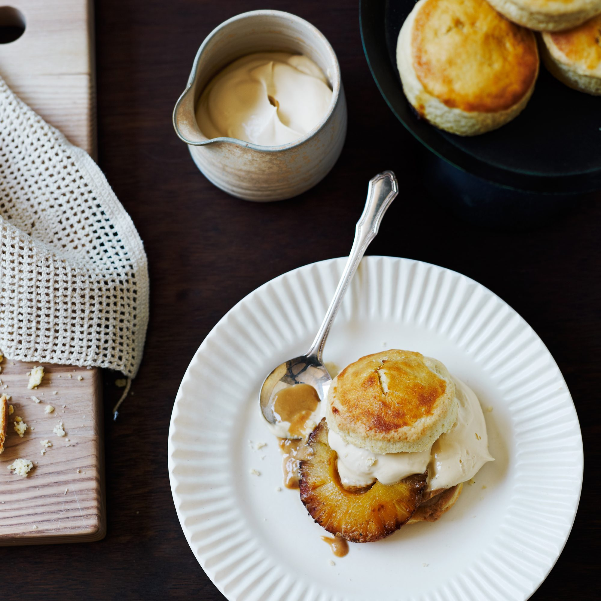 Pineapple Shortcakes with Dulce de Leche Whipped Cream