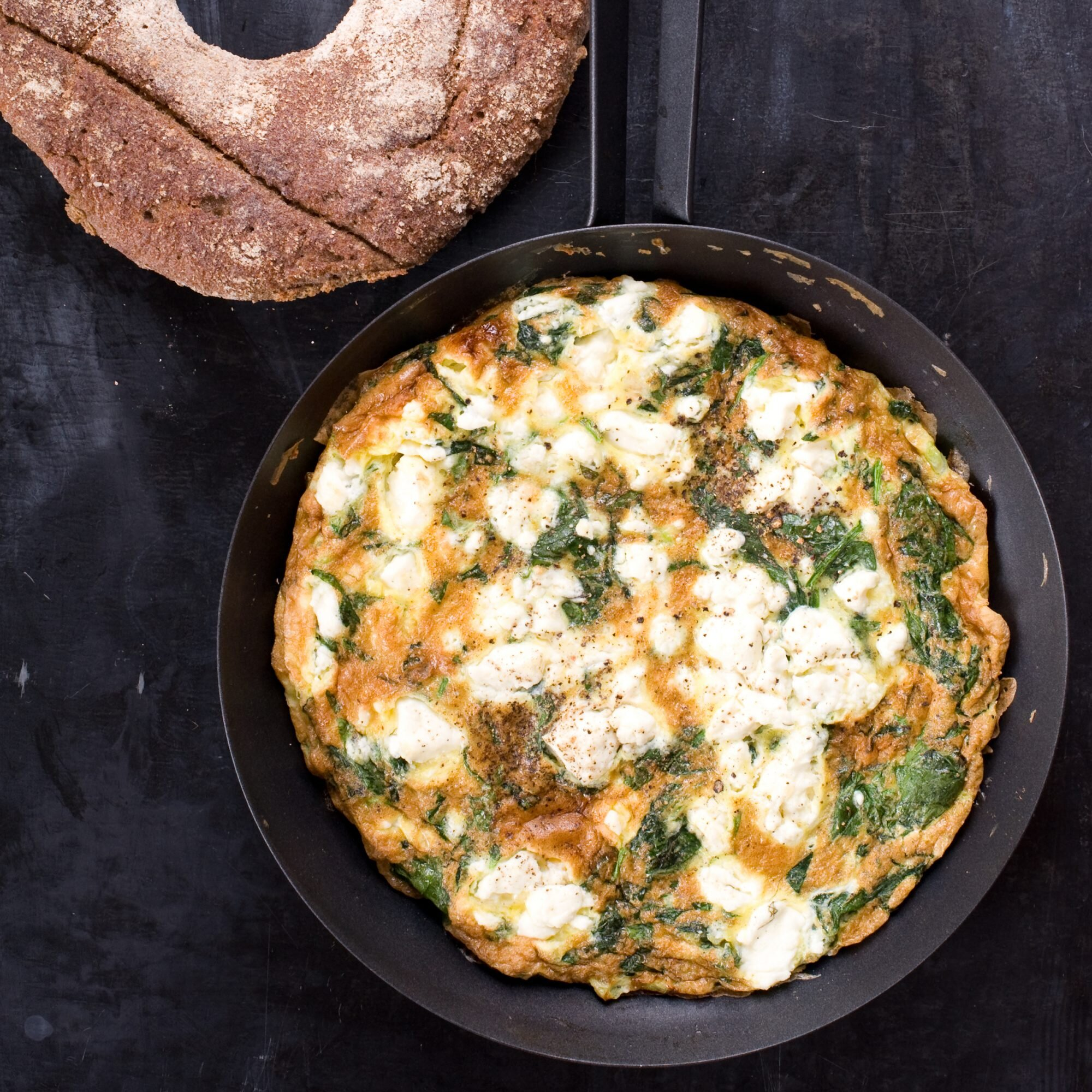 Spinach Feta And Tarragon Frittata Recipe Quick From Scratch Herbs Spices Food Wine