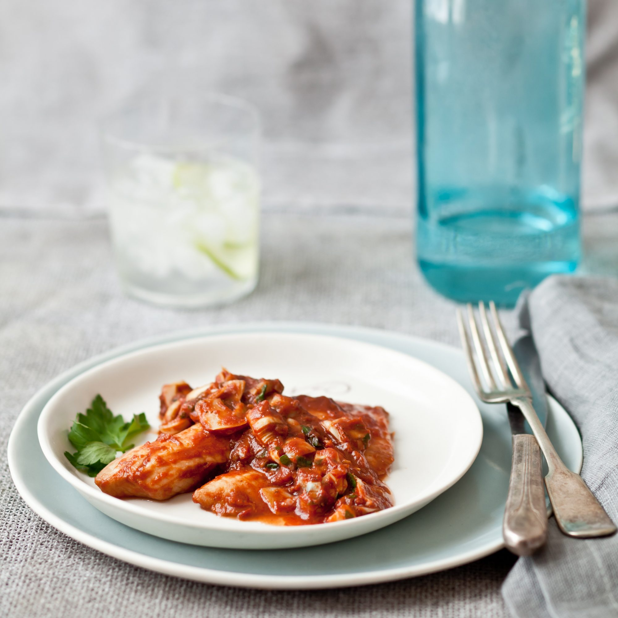 Tilapia with Tomato and Artichoke Sauce