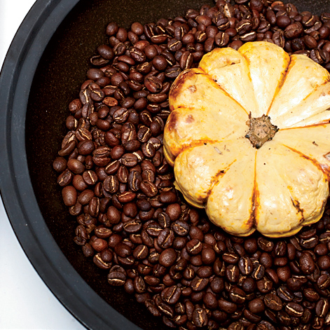 Coffee-Baked Squash with Crème Fraîche