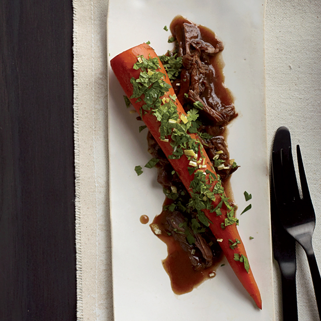 Braised Carrots with Lamb