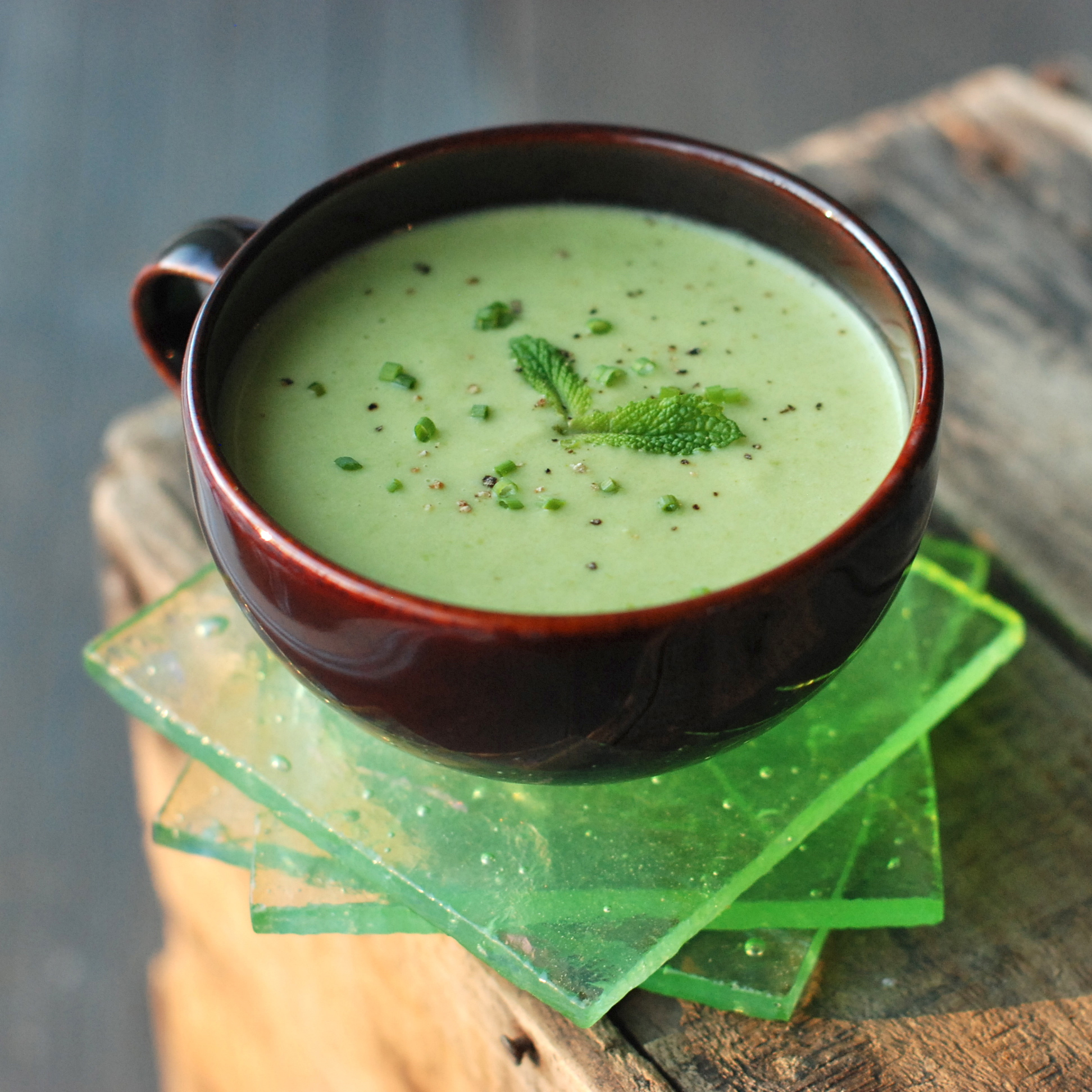 Pea-and-Parsnip Vichyssoise with Tarragon