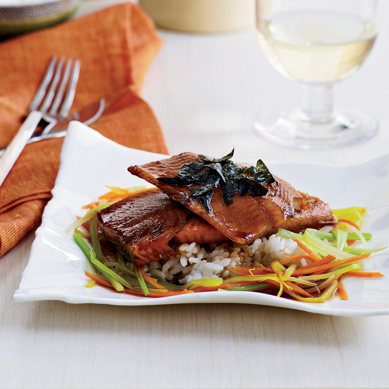 Japanese-Style Trout with Dashi