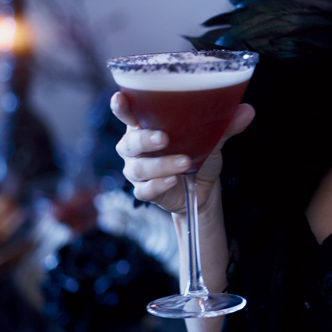 Pomegranate-and-Tequila Cocktail