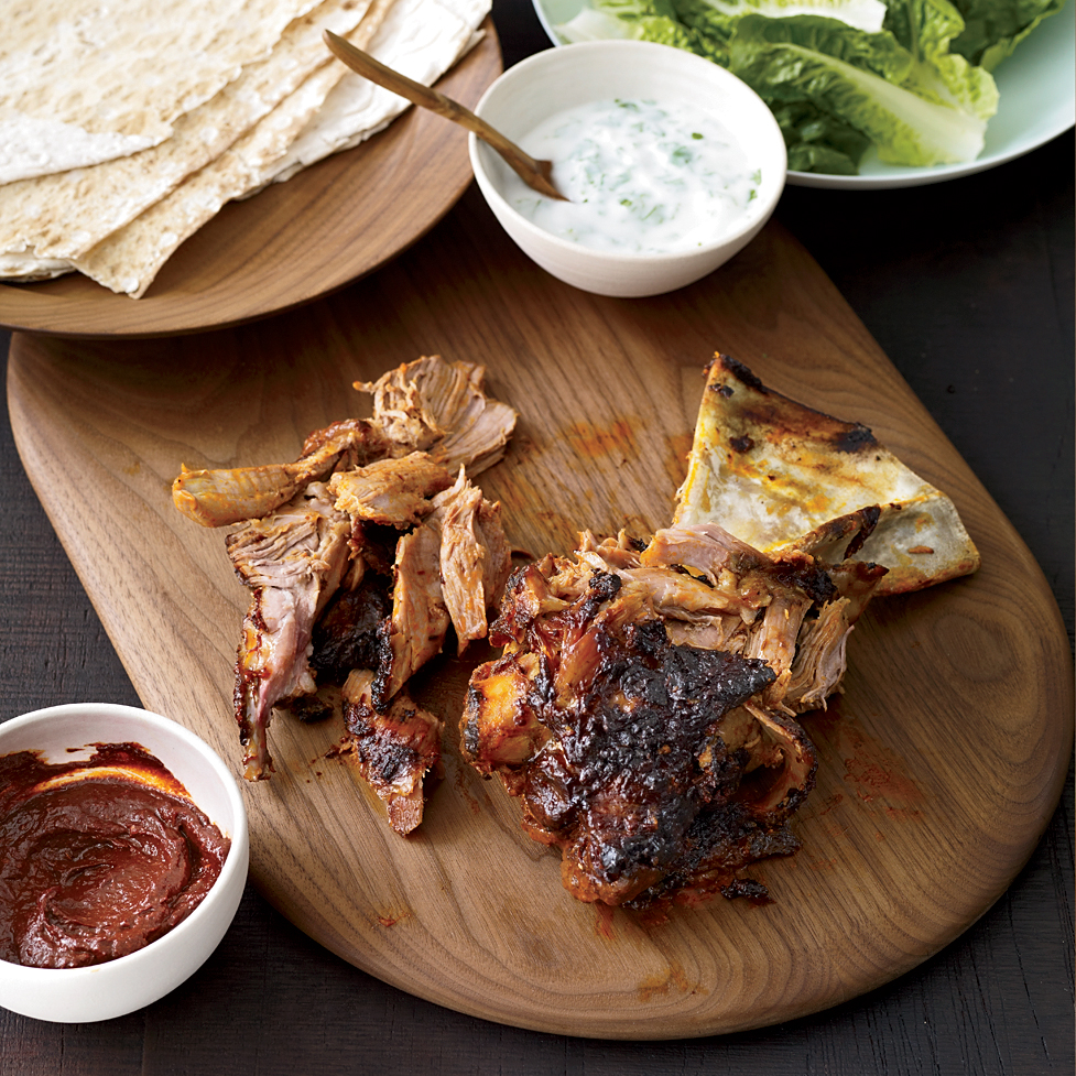 Slow Roasted Lamb Shoulder with Homemade Harissa