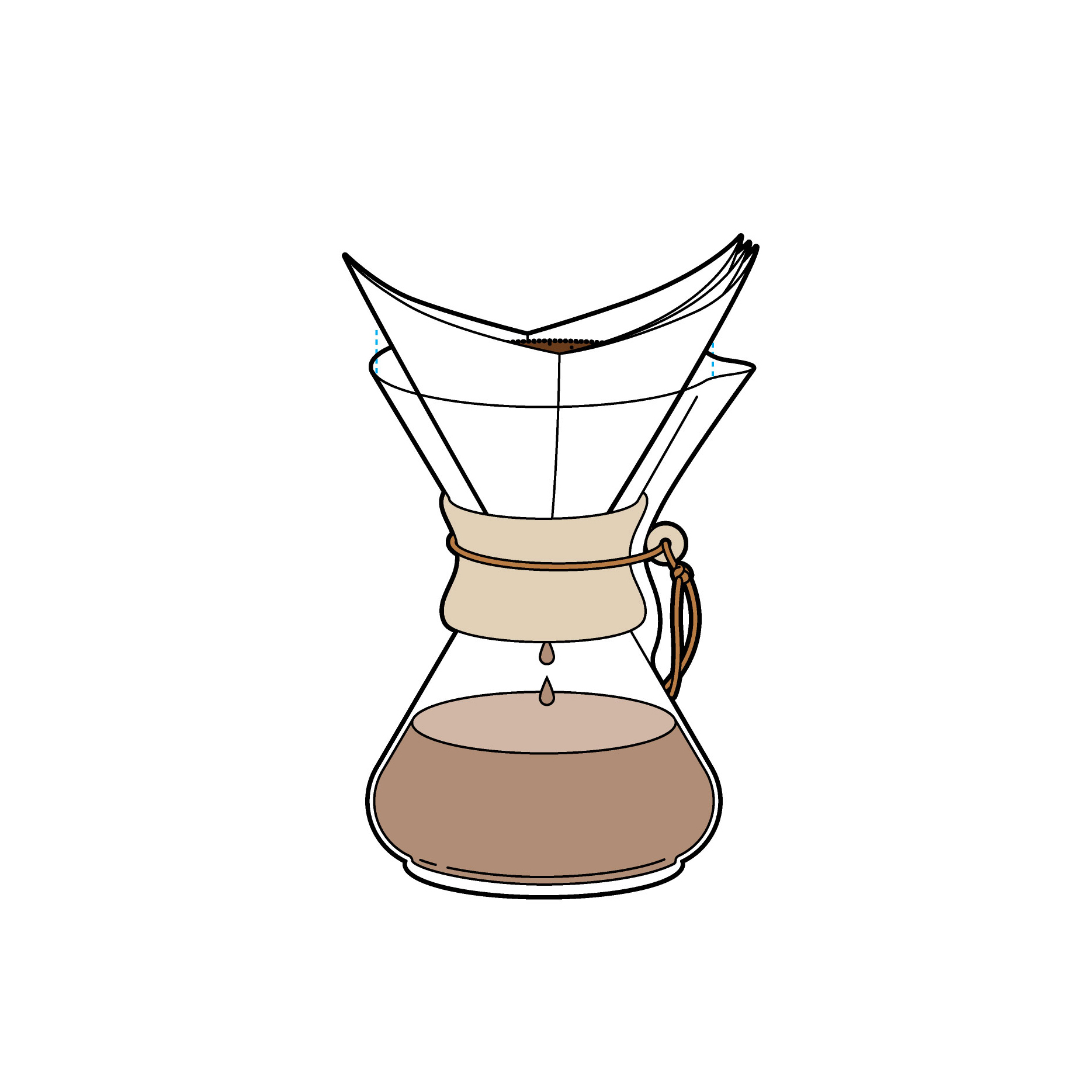 Chemex Brewed Coffee, Using a Paper Filter