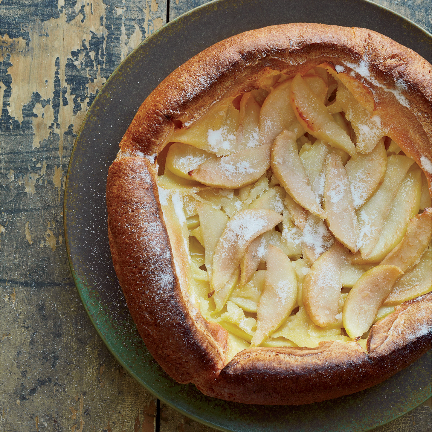 Flaugnarde with Pears