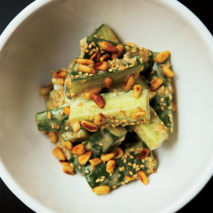 Japanese Cucumber Salad with Sesame-Miso Dressing