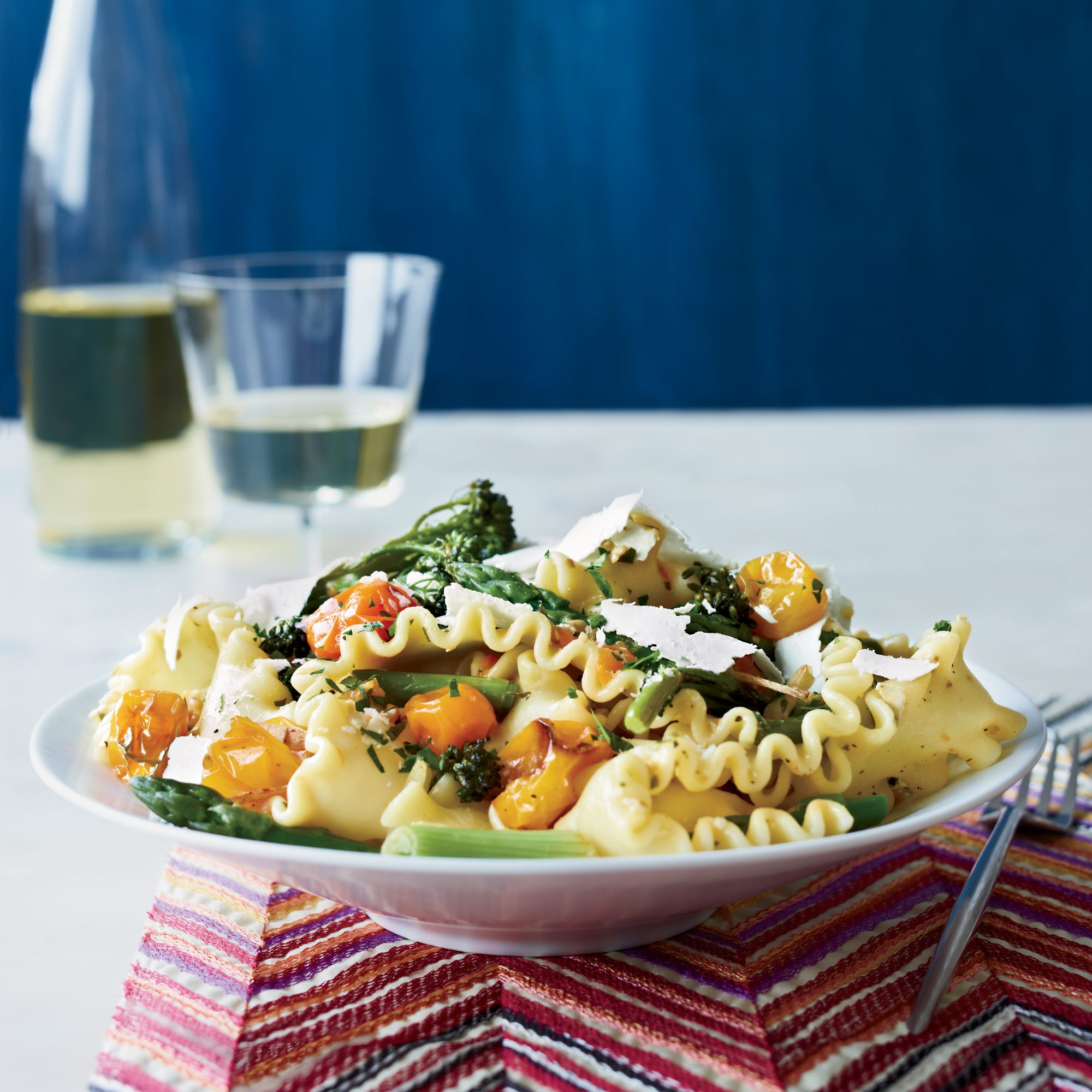 Spring Pasta with Blistered Cherry Tomatoes