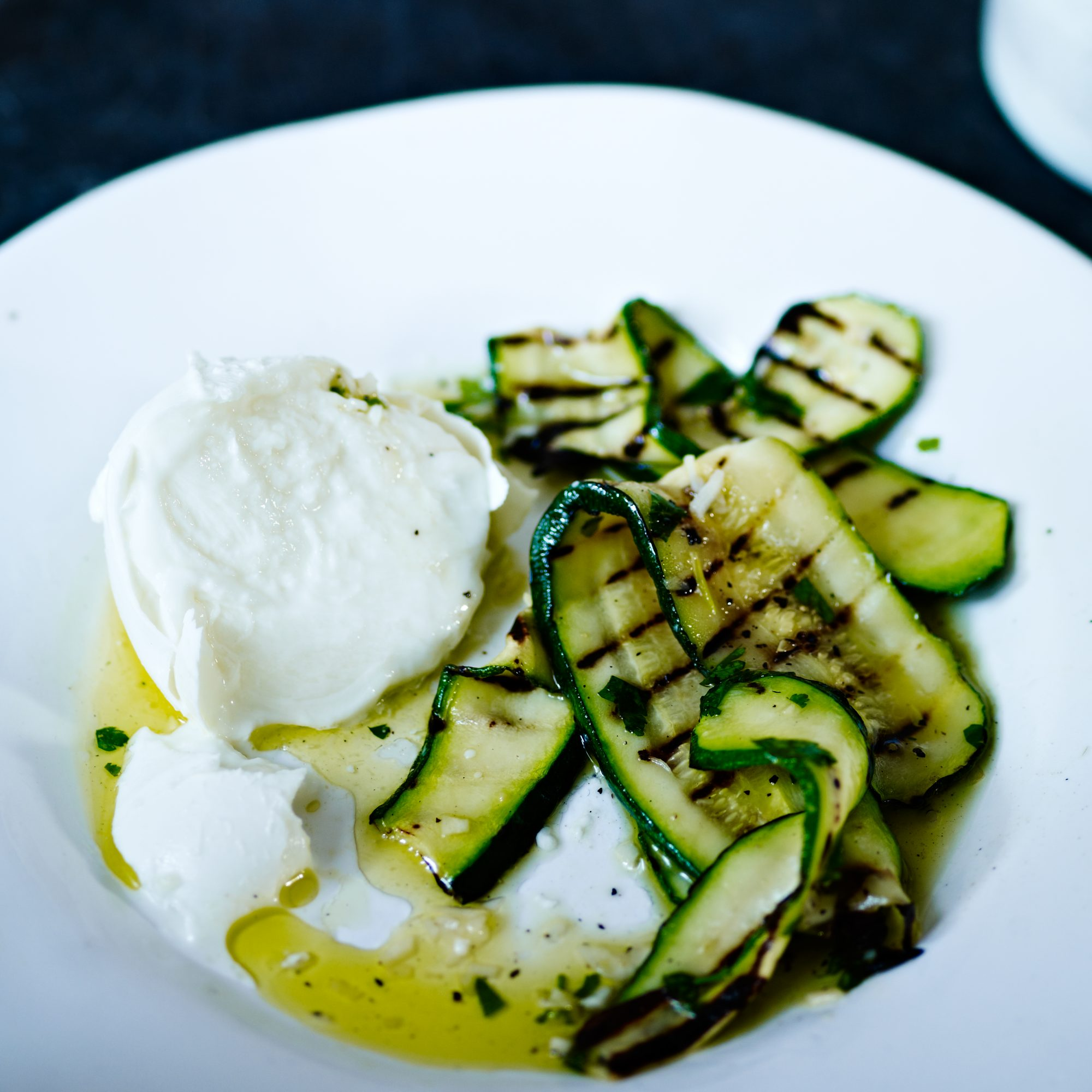 Grilled Zucchini with Fresh Mozzarella