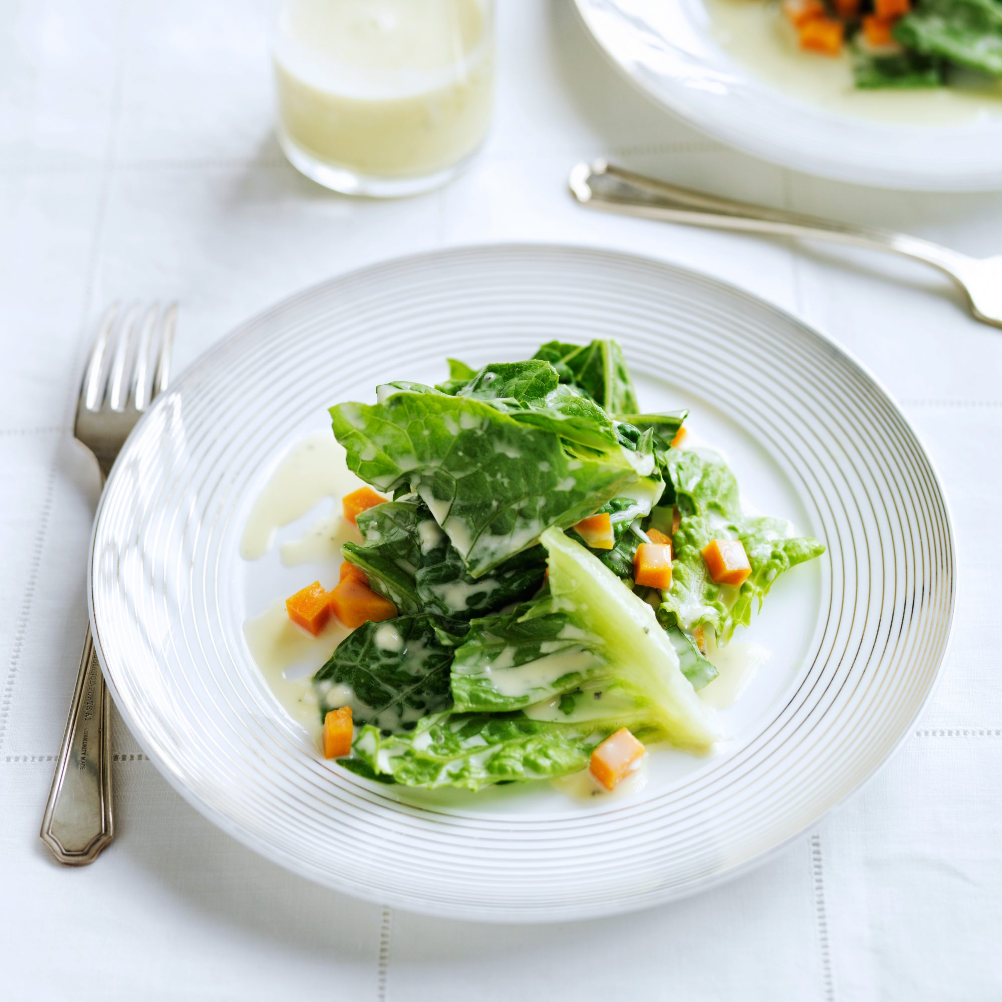 Escarole with Pickled Butternut Squash
