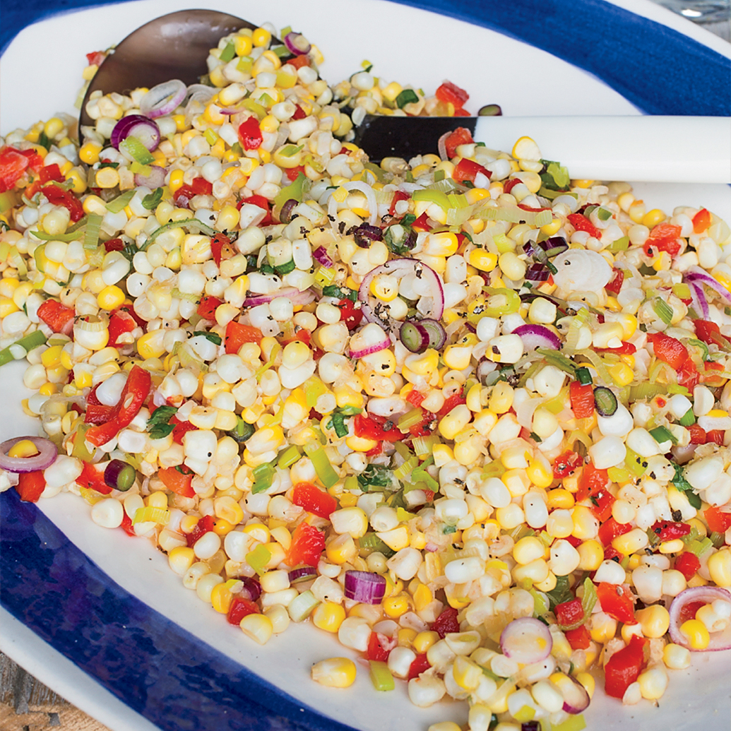 Sweet and Tangy Corn with Roasted Peppers