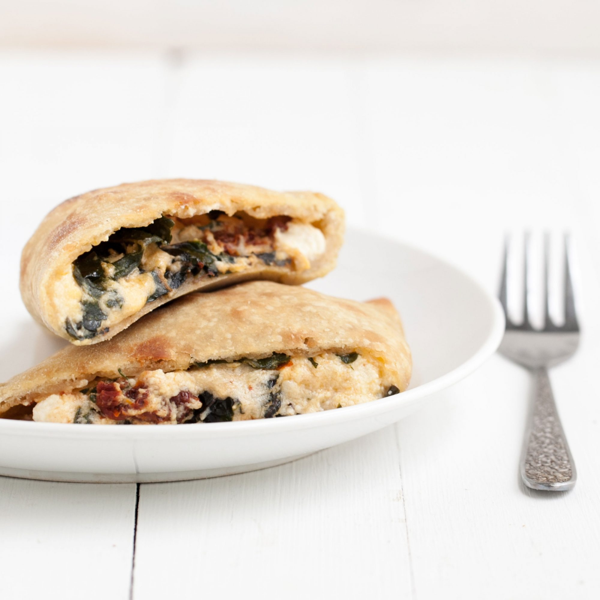 Swiss-Chard and Sun-Dried-Tomato Calzone