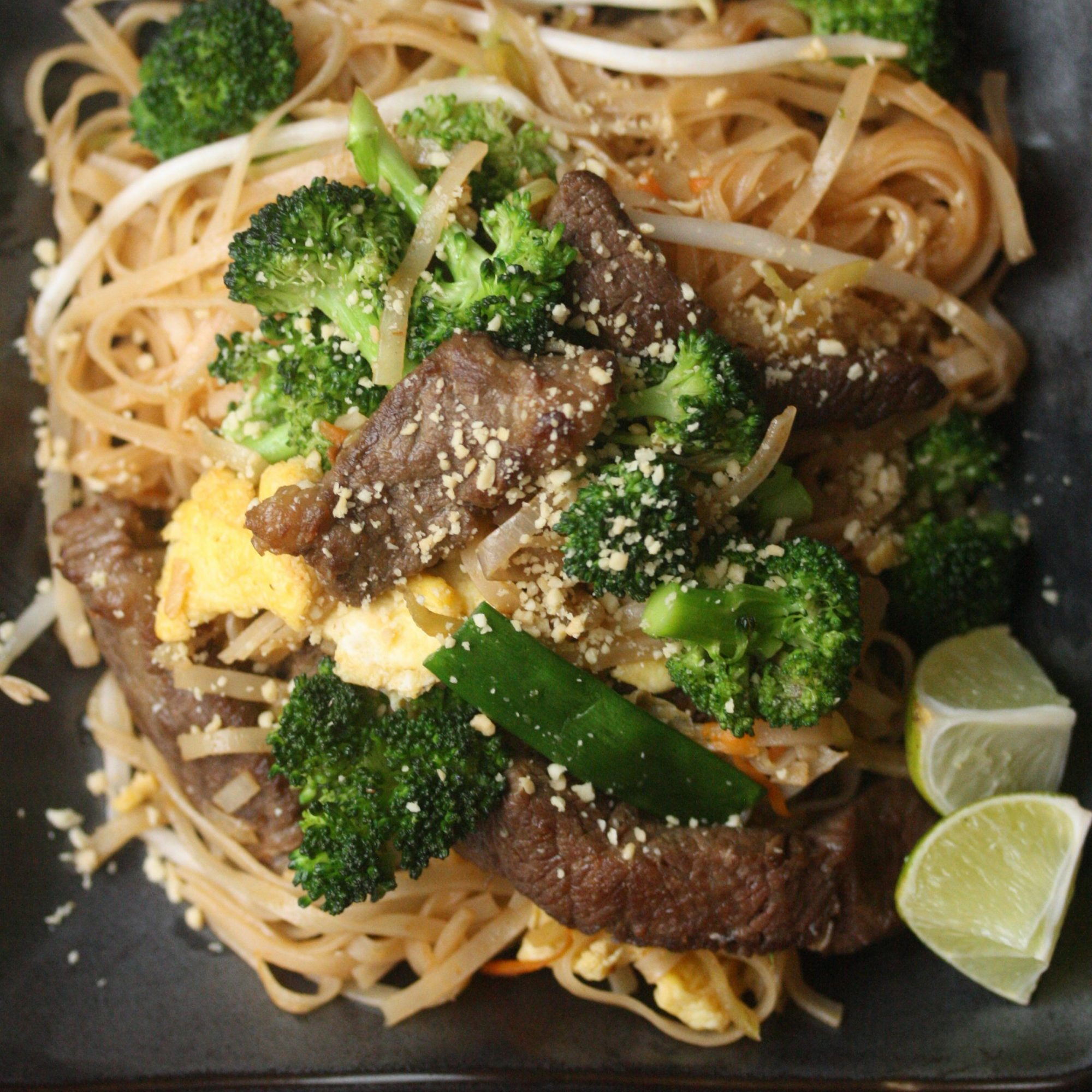Beef with Broccoli Pad Thai