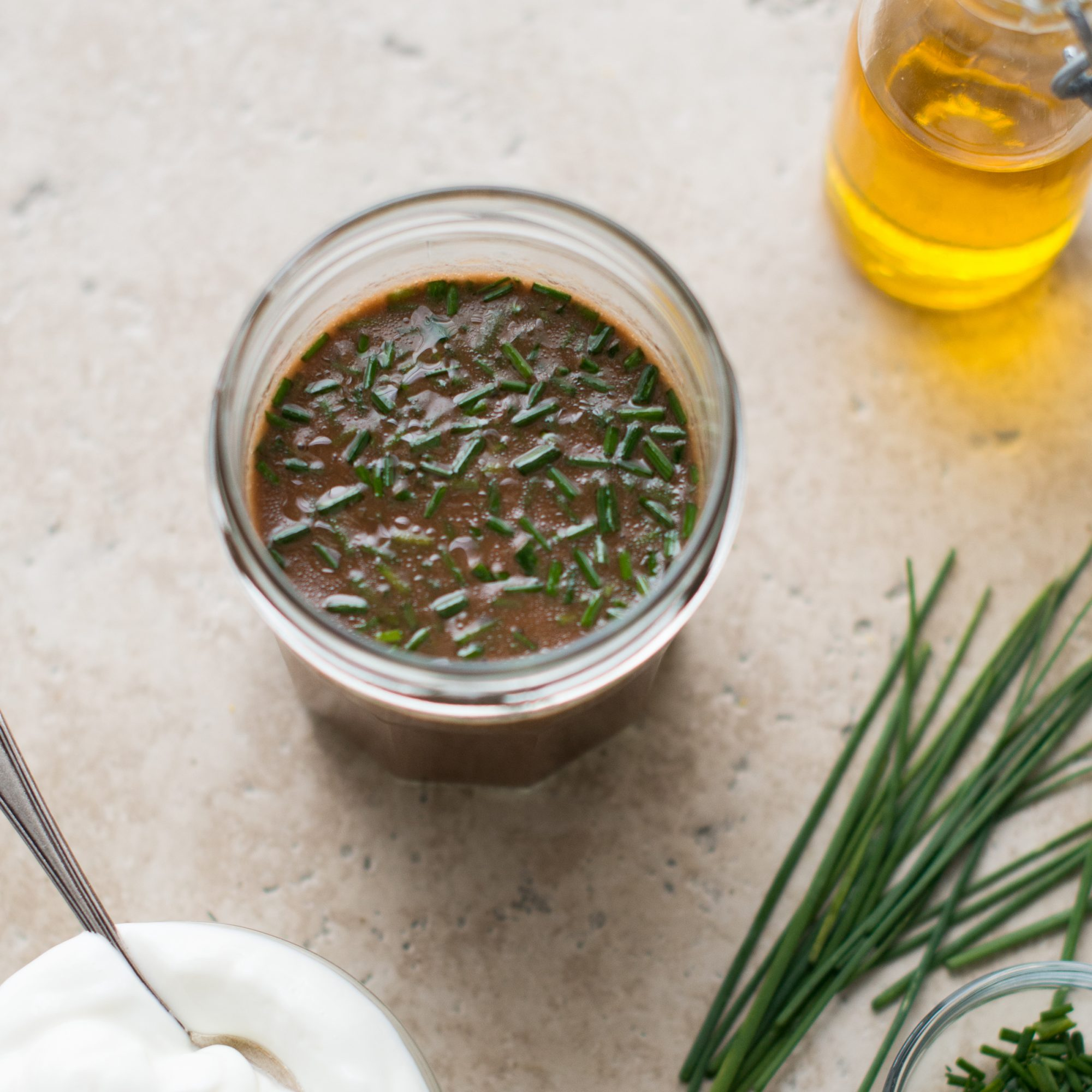Creamy Balsamic, Chive & Greek Yogurt Vinaigrette