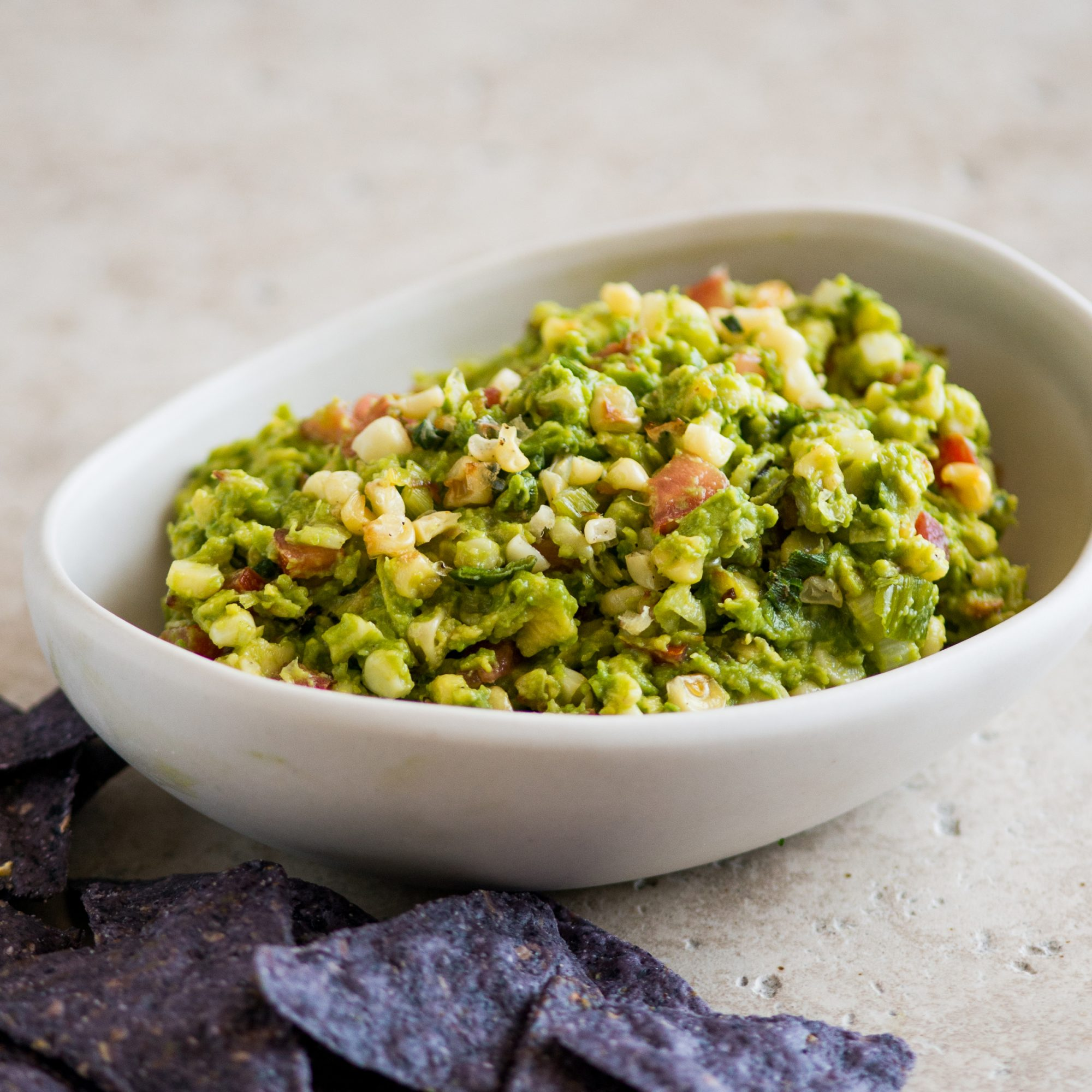 Roasted Corn and Scallion Guacamole