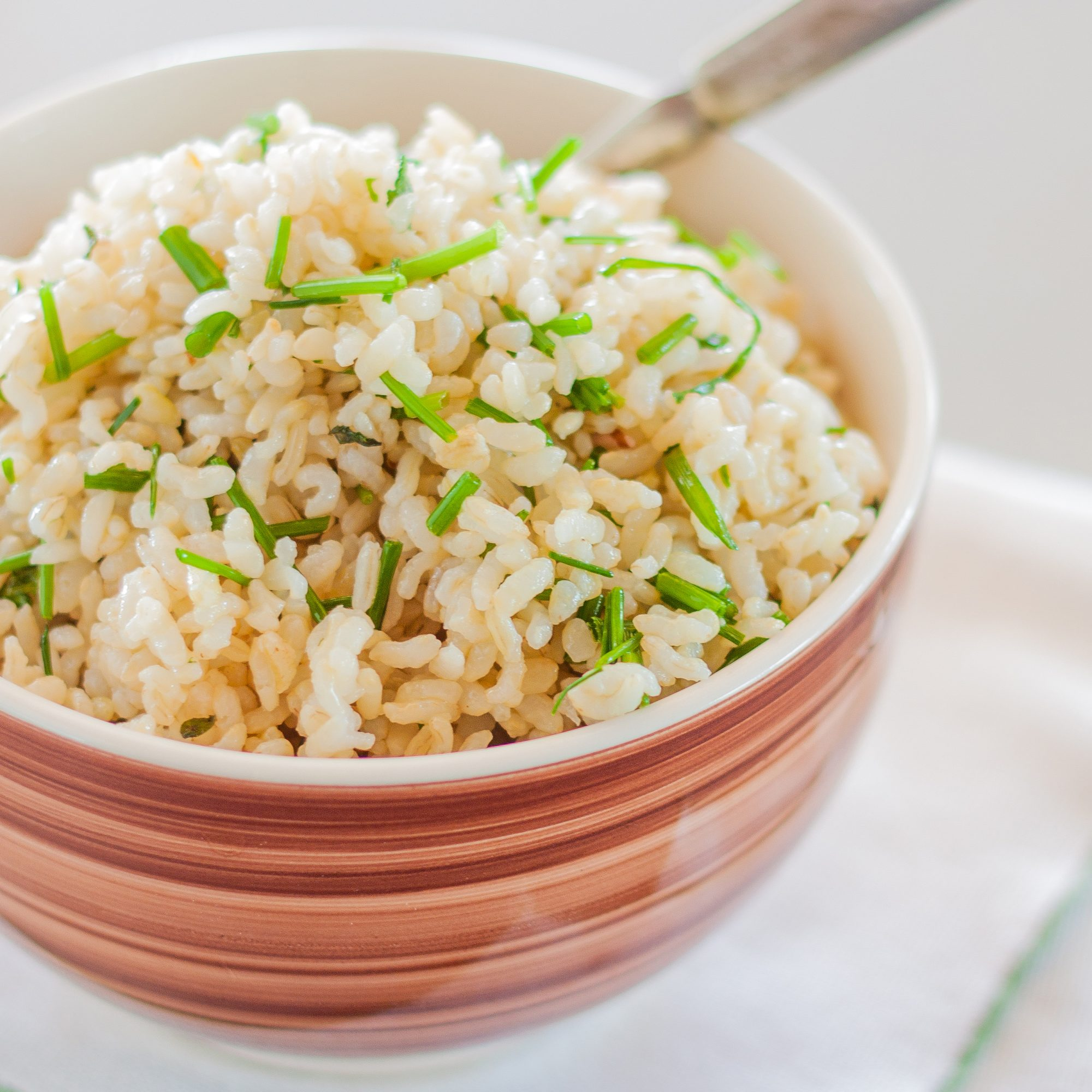 Brown Rice with Truffle and Chive
