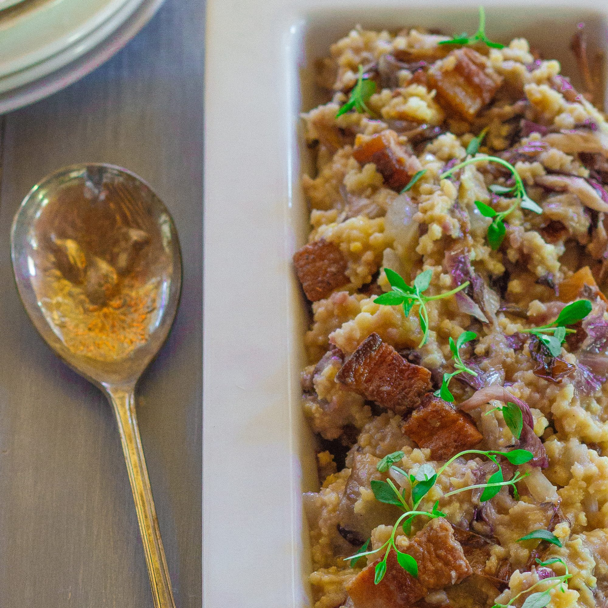 Millet with Pancetta and Radicchio