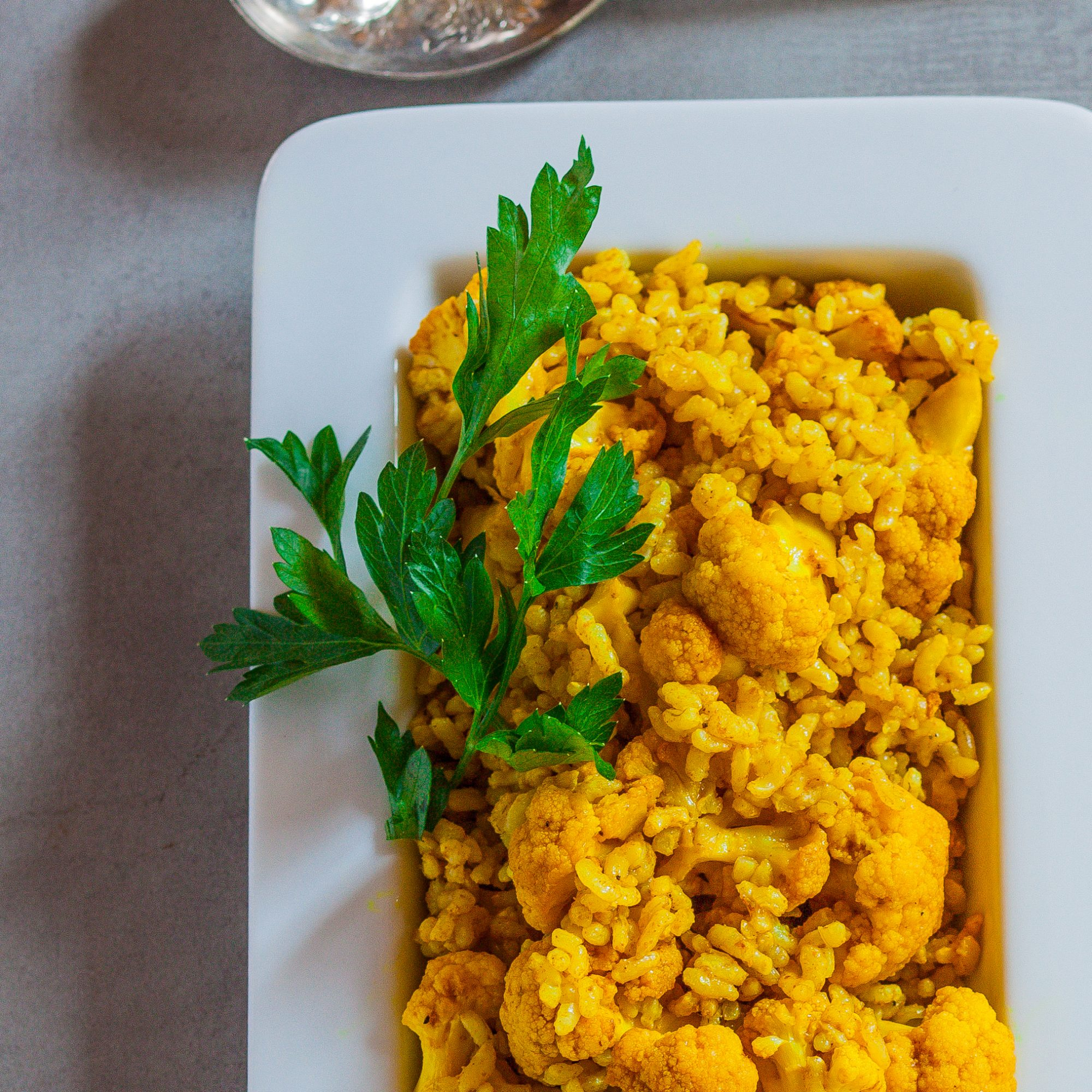 Curried Brown Rice with Roasted Cauliflower