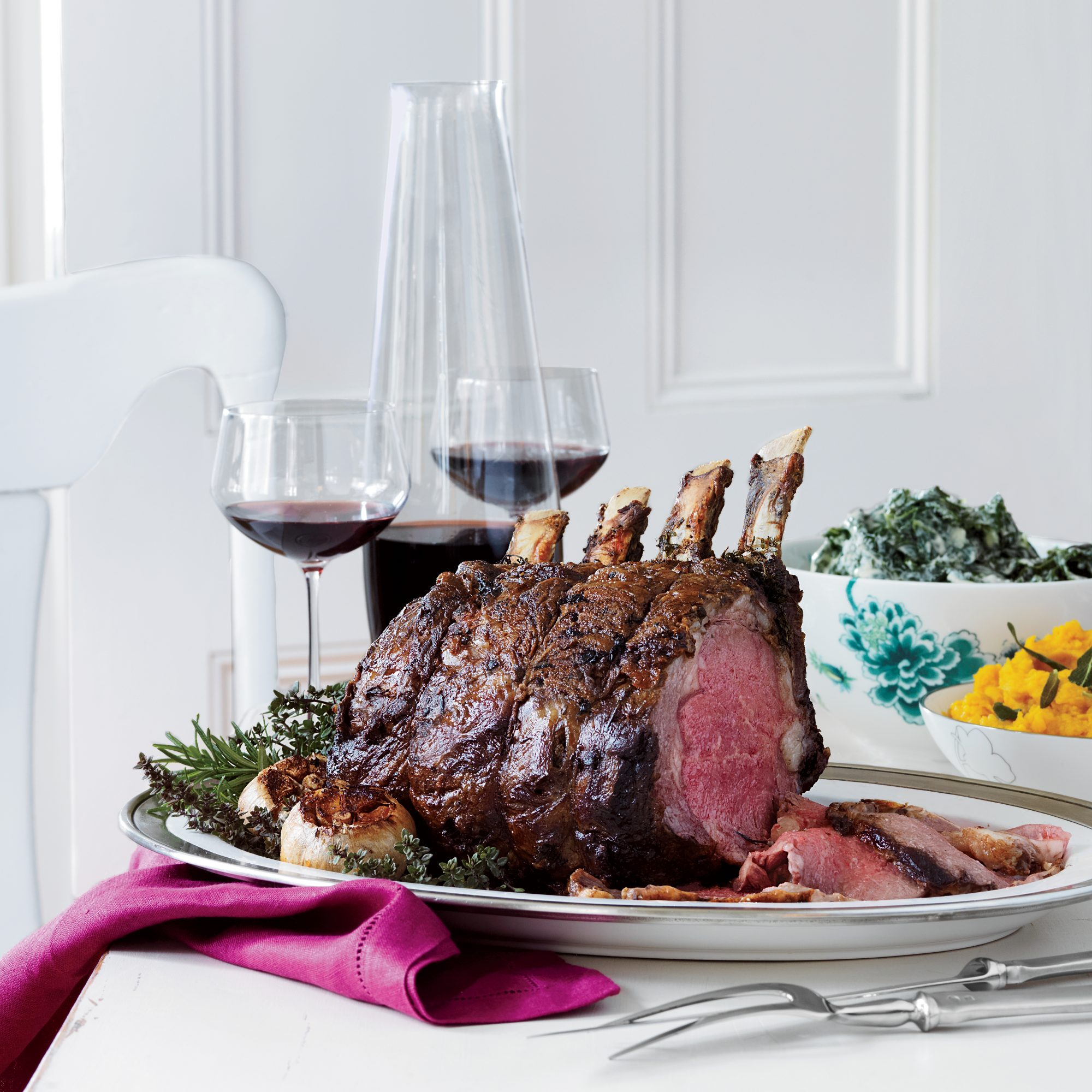 Prime Rib Roast with Horseradish Cream