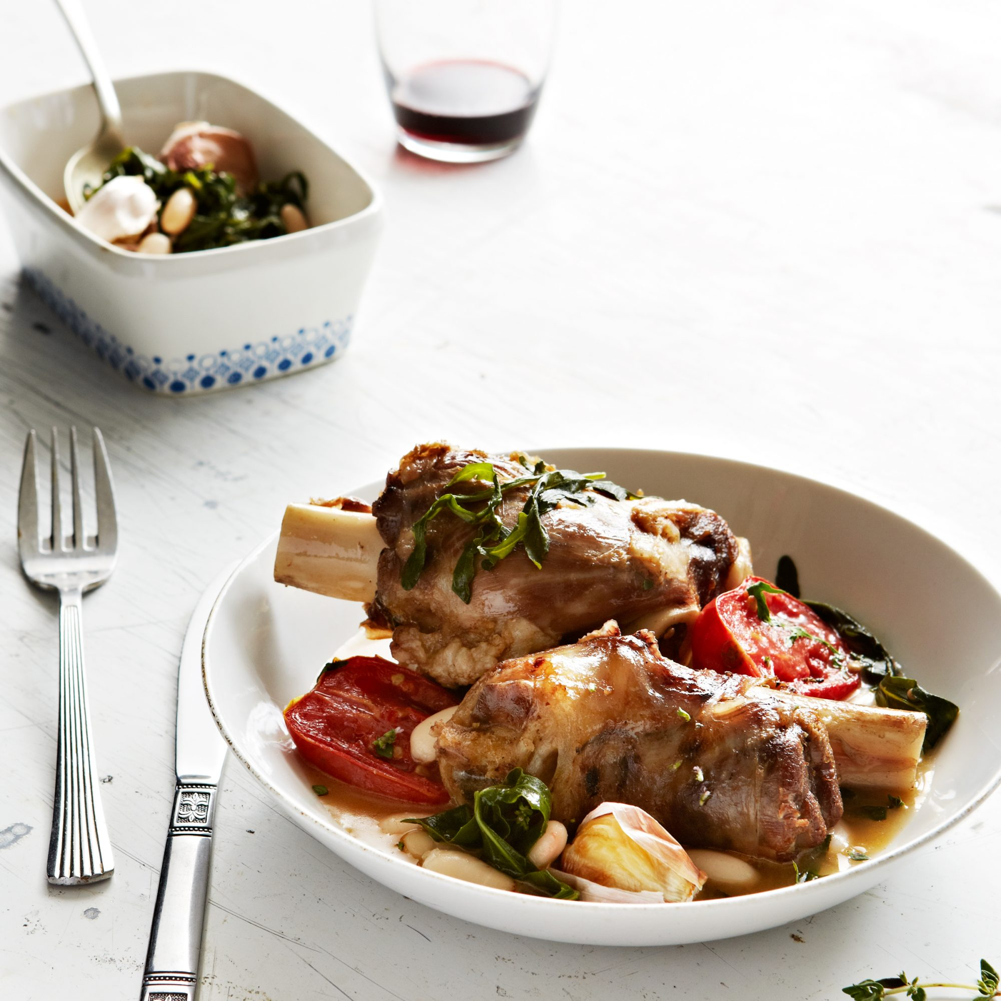 Braised Lamb Shanks with Roasted Tomatoes