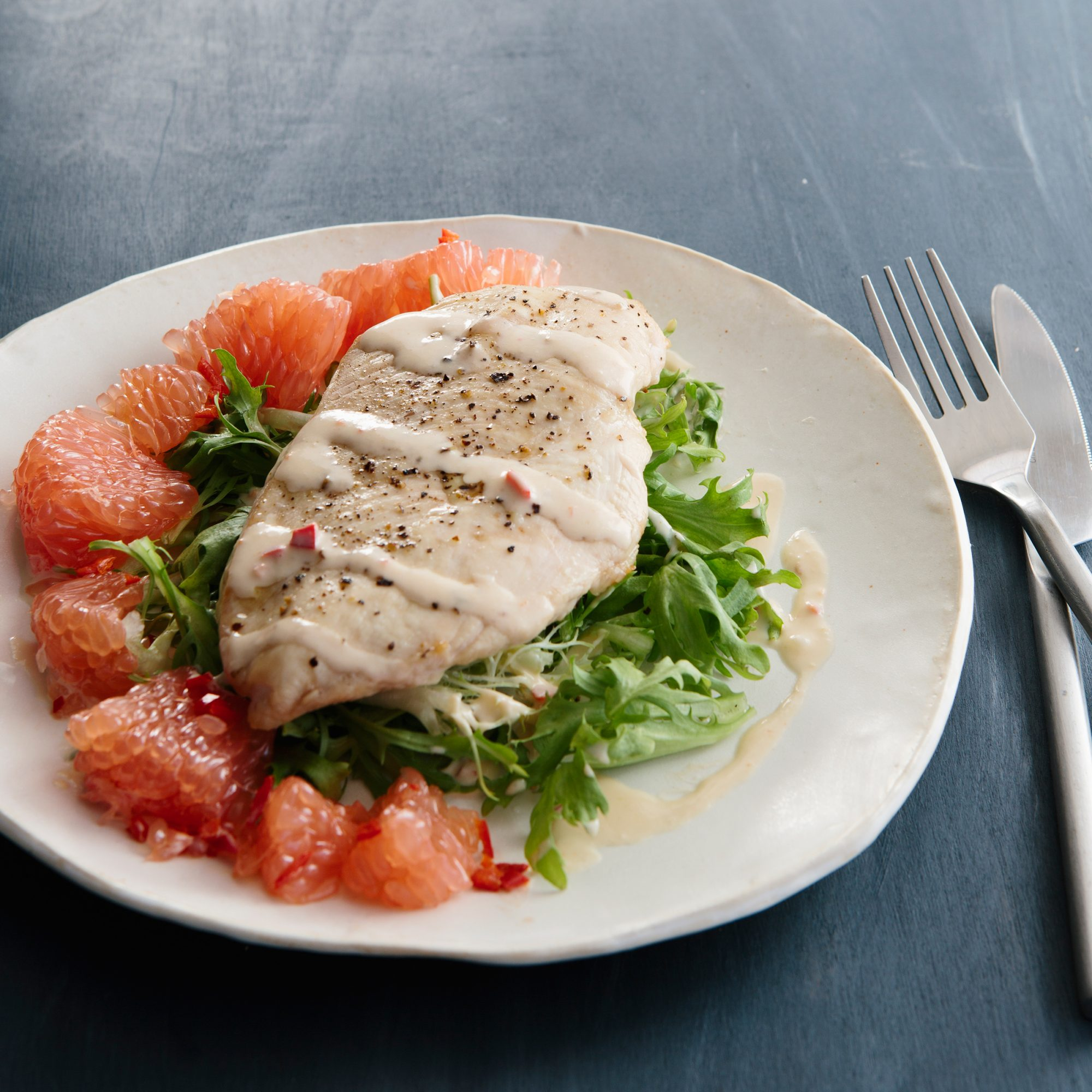 Chicken Breasts with Spicy Grapefruit and Miso Sauce