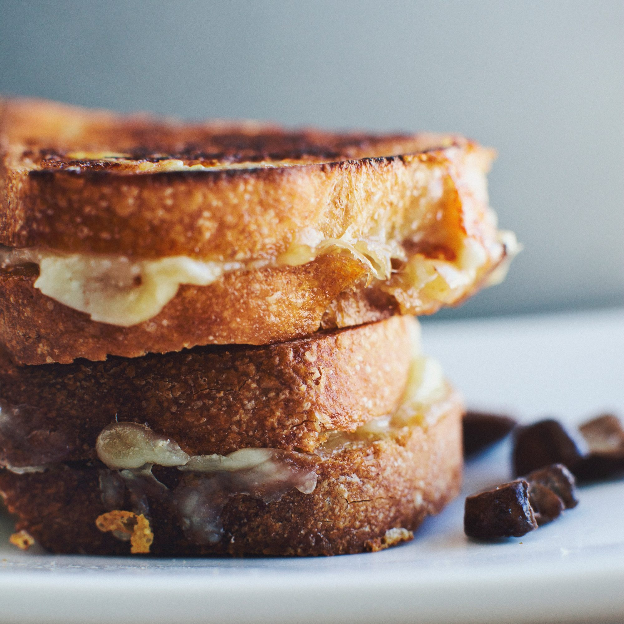 Grilled Fontina, Mushroom, and Sage Sandwiches