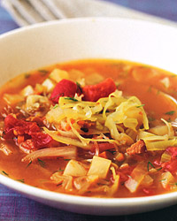 Sweet-and-Sour Cabbage Soup