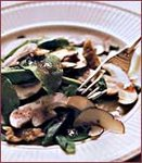 Arugula, Mushroom and Walnut Salad