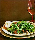 Arugula and Chanterelle Salad with Vacherin Croutons